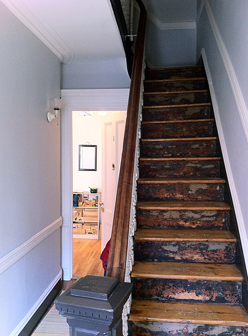 residential architecture: park slope row house — piano nobile