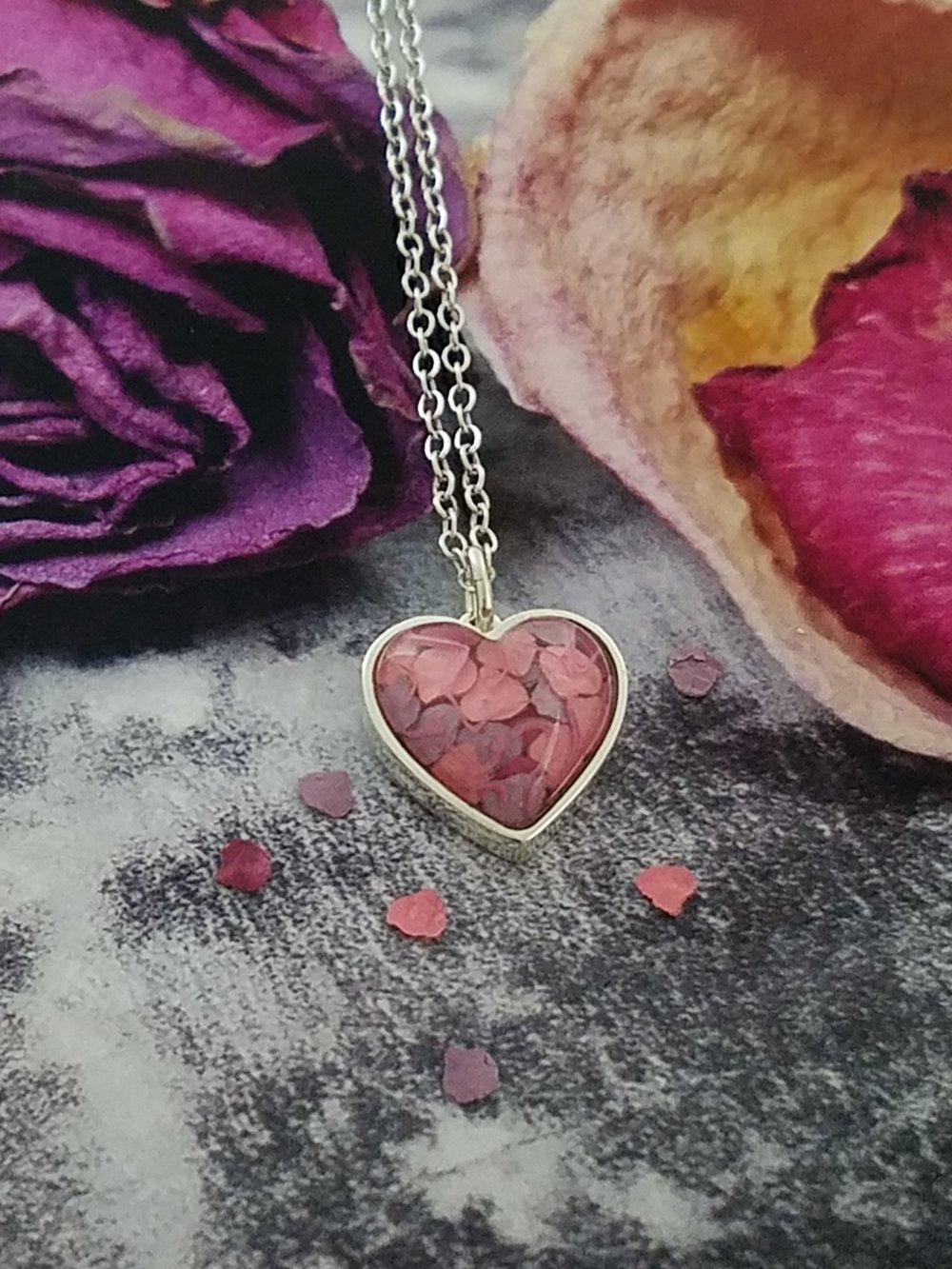 Petite PetalGems® Heart Necklace -