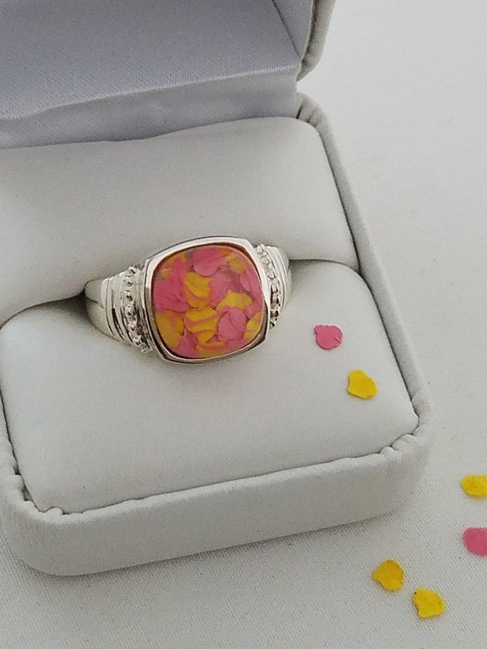 Radiant Shaped PetalGems® Ring -