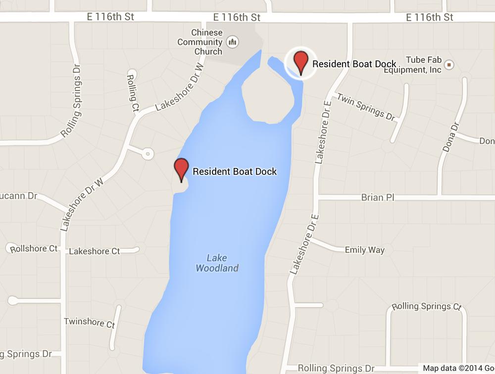 resident boat dock map