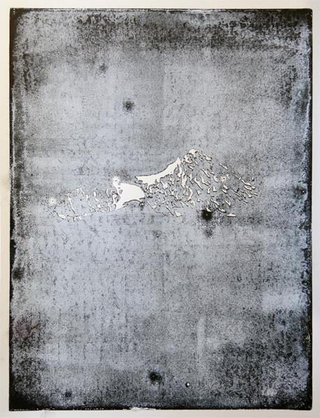 Linoleum Block Print  10.25 x 14.1875 inches  26 x 36 cm