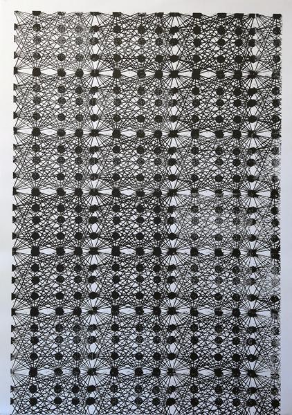 Linoleum Block Print  29.5 x 42inches  74.93 x106.68 cm