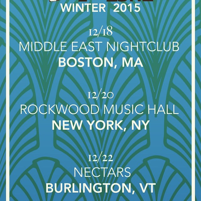 Catch us Tearin up the northeast @rockwoodmusichall @mideastclub @nectarsvt !! #happyholidaze
