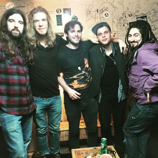 Had a kickass night up in #Burlington, VT. Got to catch up with our good buddies @funkdog91 and @mellowslinkymothership from @gangofthieves. Tobin looking scandalous in this one. #rocknrollfam #nectars