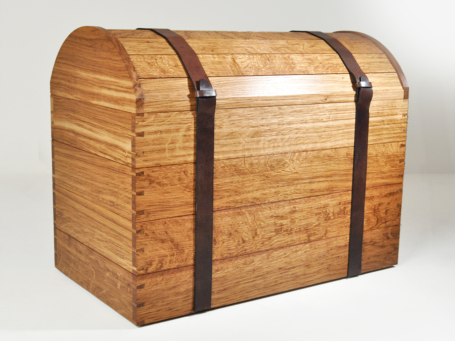 Andrew Wood's Brown Oak Drinks Chest