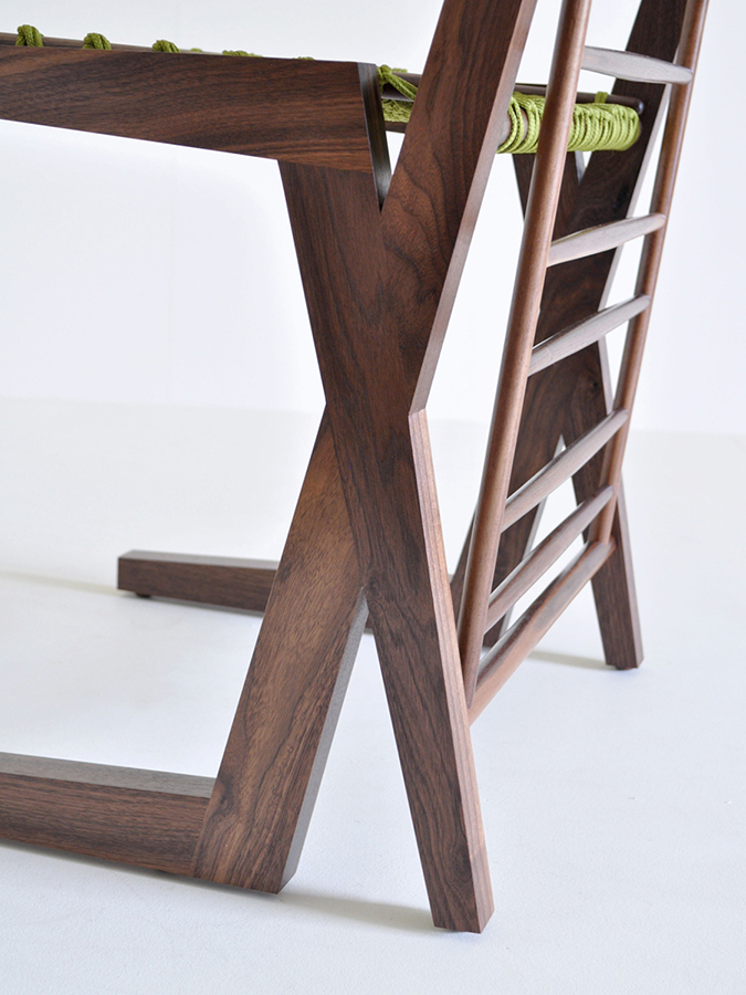 Detail view of 'Knot Chair' by Maria Del Mar Gomez in Walnut