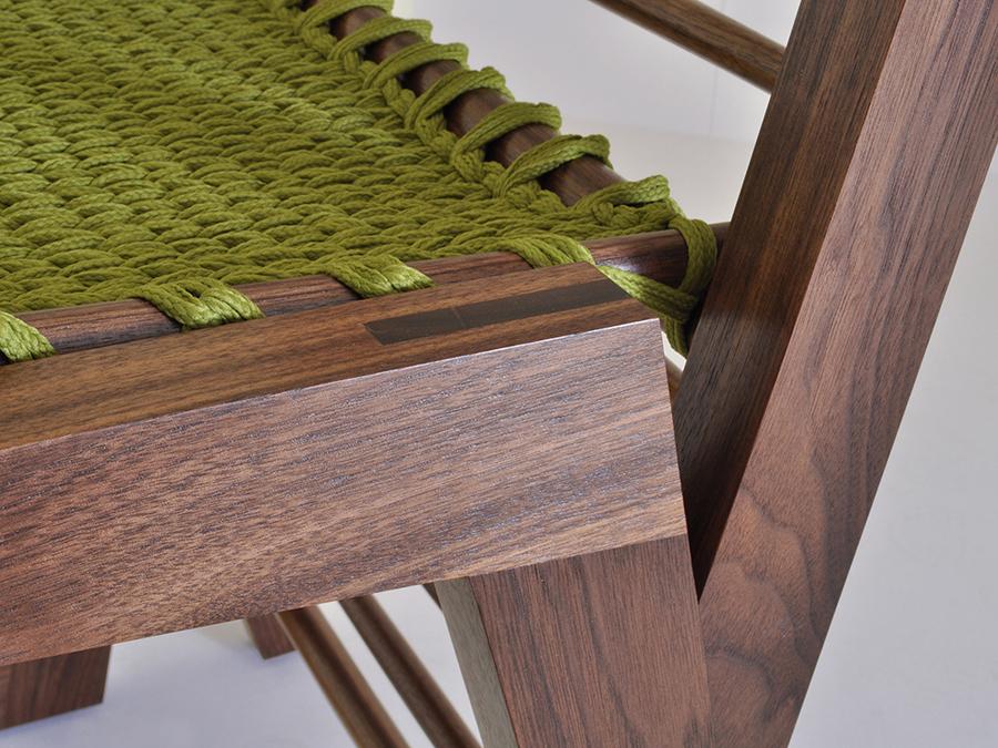'Knot Chair' by Maria Del Mar Gomez in Walnut