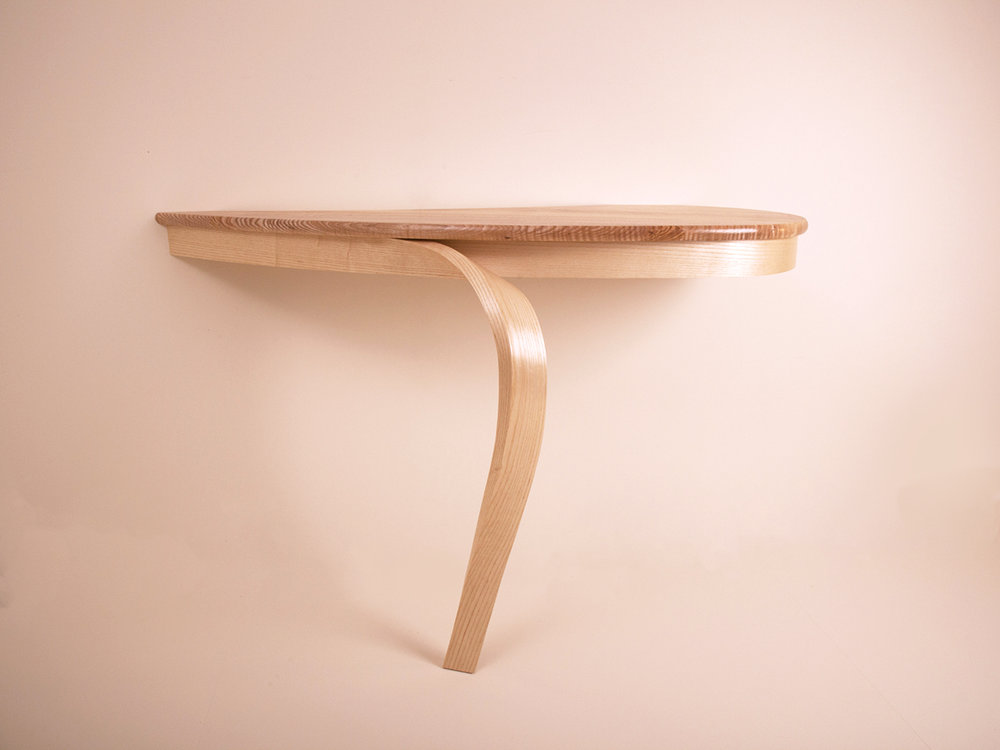Tim Hagon's Rippled Ash laminated console table.