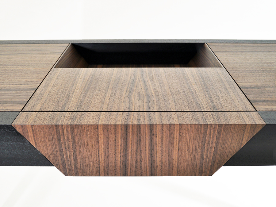 Wilma Wyatt's American Black Walnut and Ebonised Mahogany hall table.