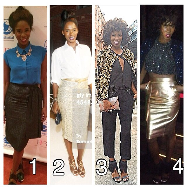 #RealityRevolution talent @kimberlygoldson killed it at NYFW. Which one is your fave look? We can't decide!