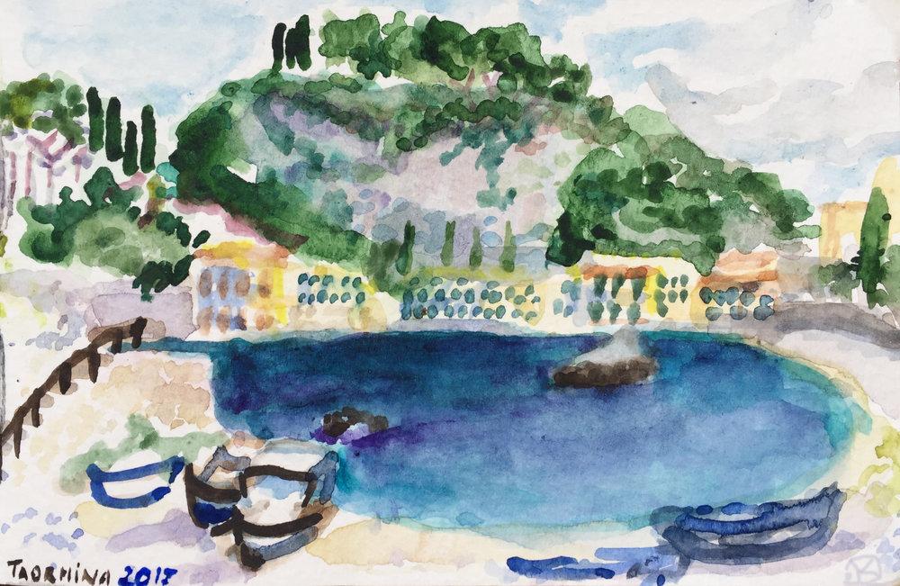 Taormina 2017, watercolour 9 x 14 cm