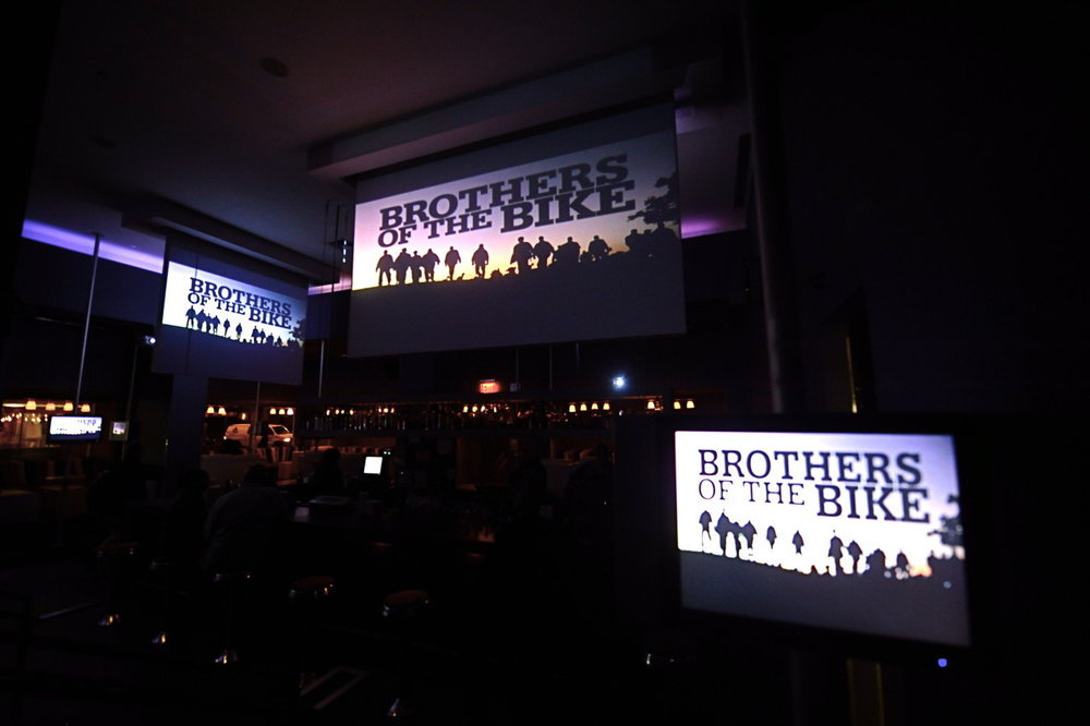 Taken before screening of Brothers Of The Bike doc at The 40/40 Club went totally wild.