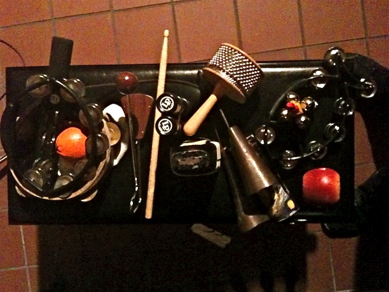 An early morning percussion session is the perfect way to start the day.