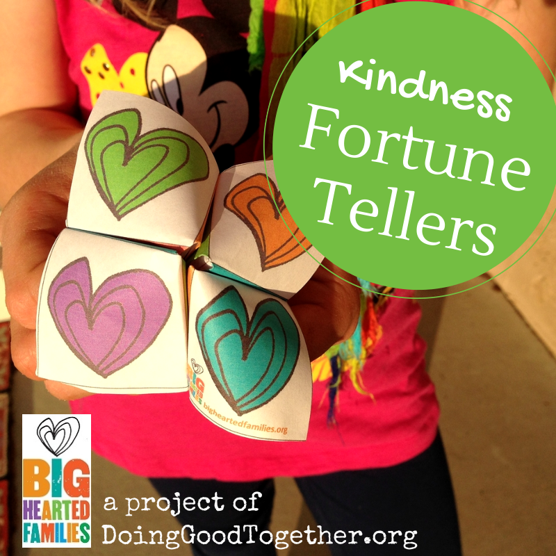 Kindness Fortune Tellers from DoingGoodTogether.org