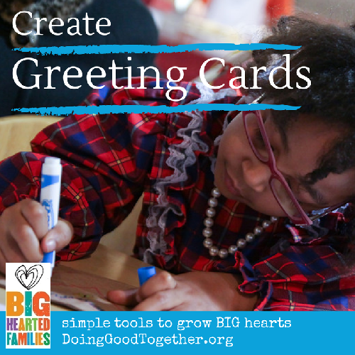 project tips and reflection questions to create cards for others