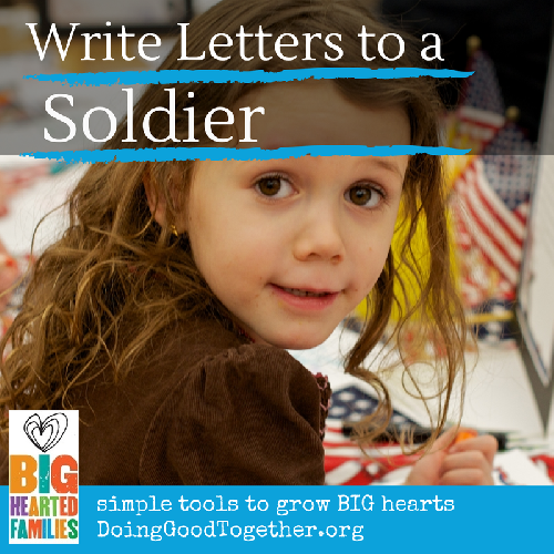 project instructions, reflections, and book ideas to write letters to soldiers