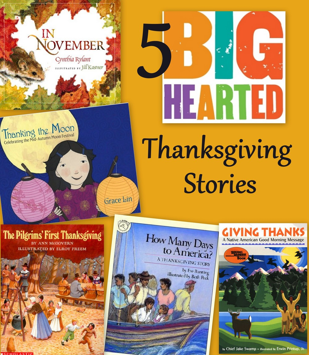 5 Books about Thanksgiving from Big-Hearted Families™