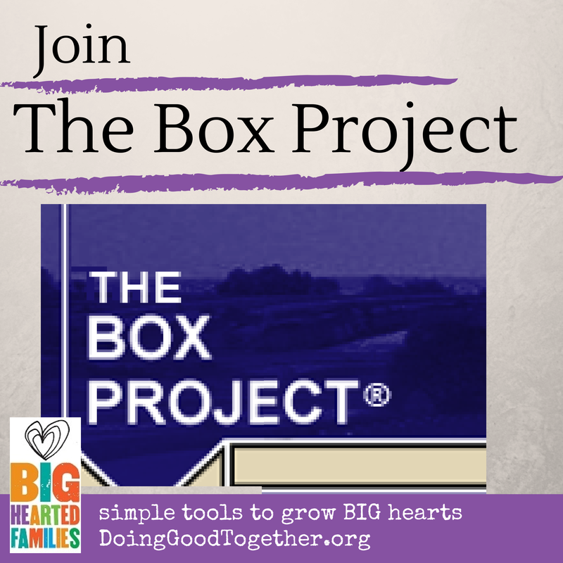 Project instructions, discussion questions, and book ideas to serve a family in poverty with Big-Hearted Families™