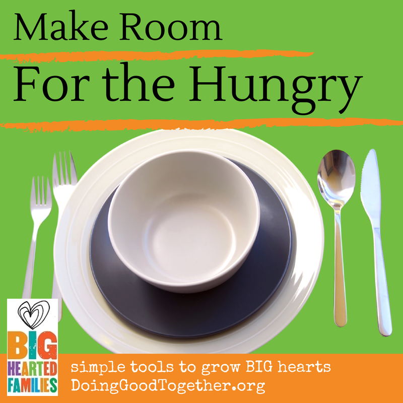 a 30 day project to teach kids about hunger, with discussion questions and book ideas