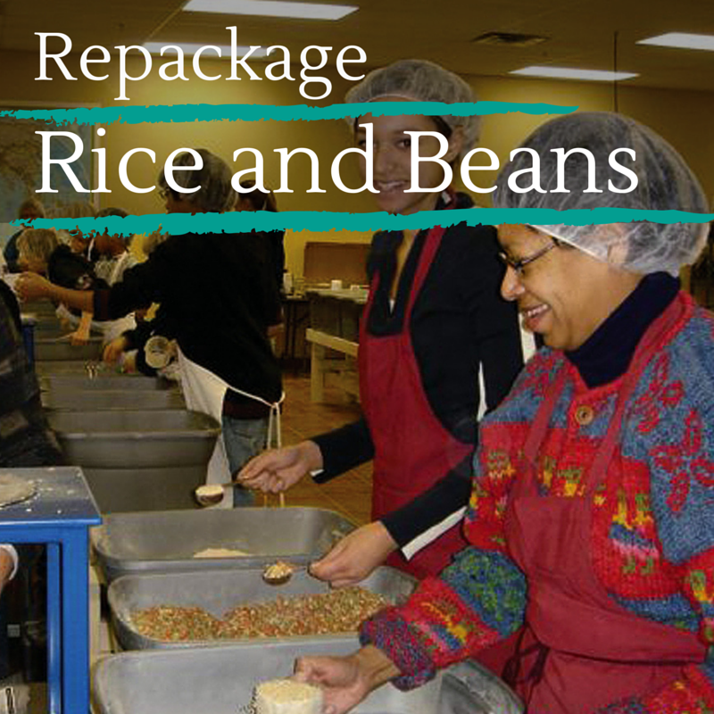 Fight poverty - repackage rice and beans