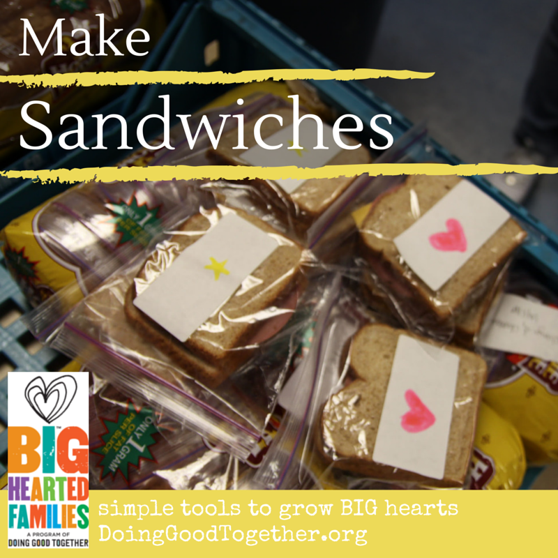 make sandwiches doing good together