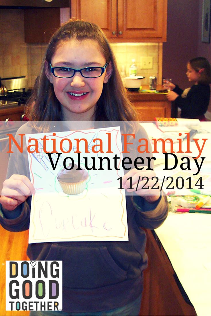 National Family Volunteer Day! November 22, 2014