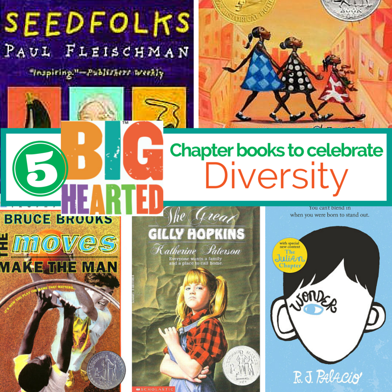 Chapter books to celebrate diversity.