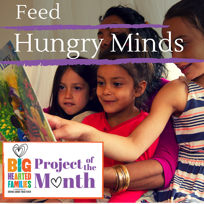 Feed Hungry Minds with a project that is one part pen pal and one part monthly family volunteer opportunity!