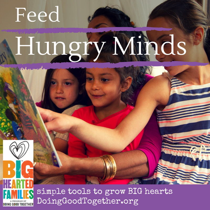Fight poverty by feeding hungry minds.