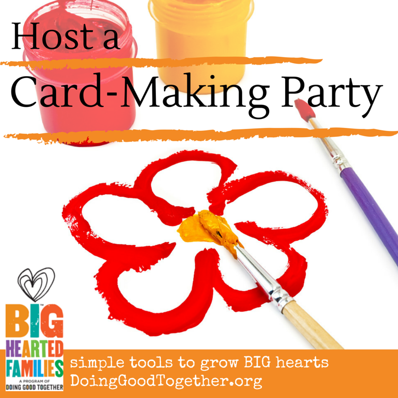 Host a card-making party with other families to celebrate any holiday with kindness and artistic flair!
