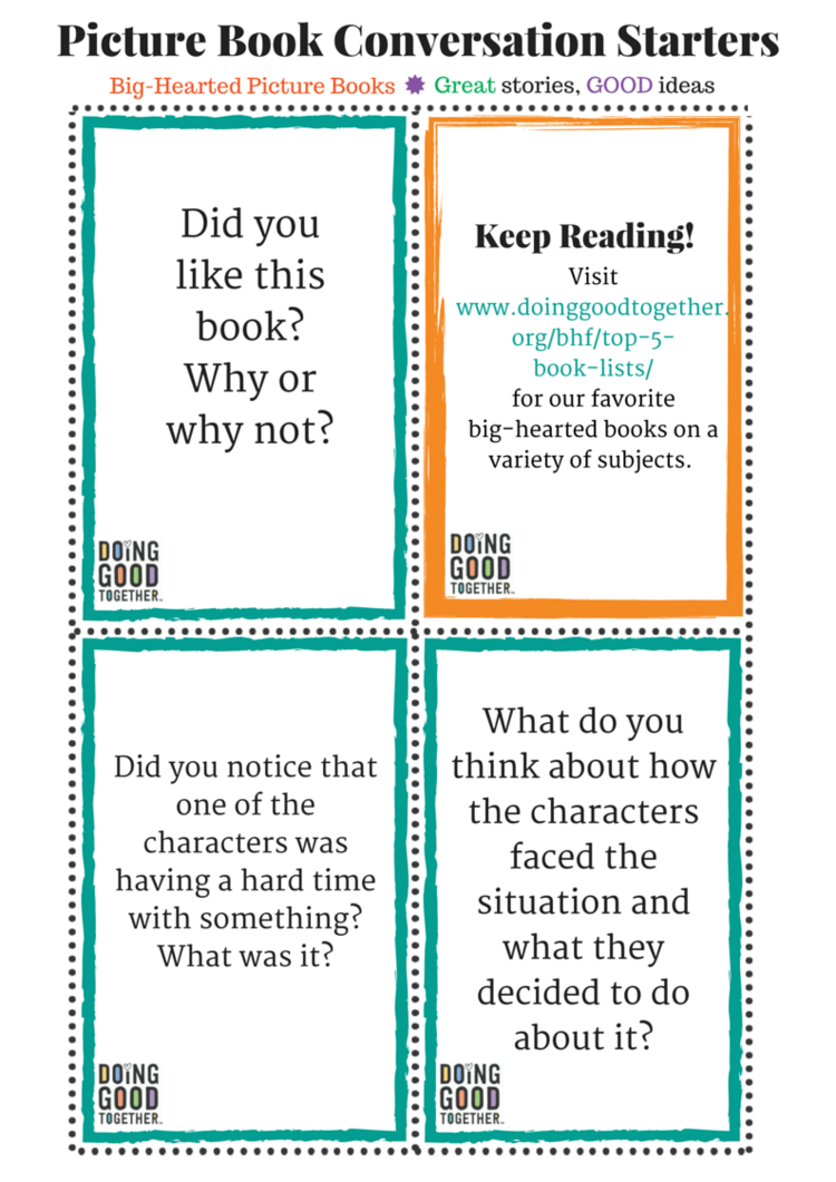 Worksheet Printable Stories With Questions conversation starters for any story doing good stories picture book