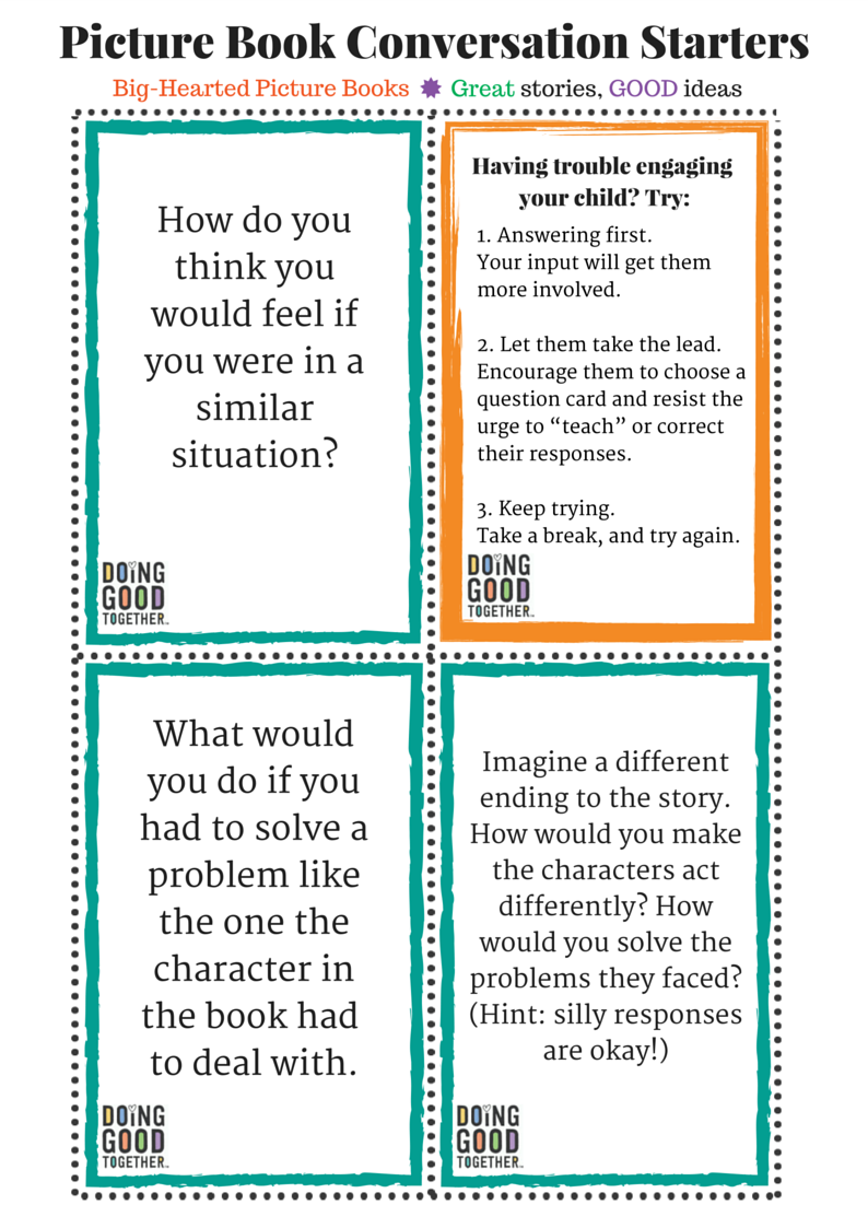 Conversation starters for any story