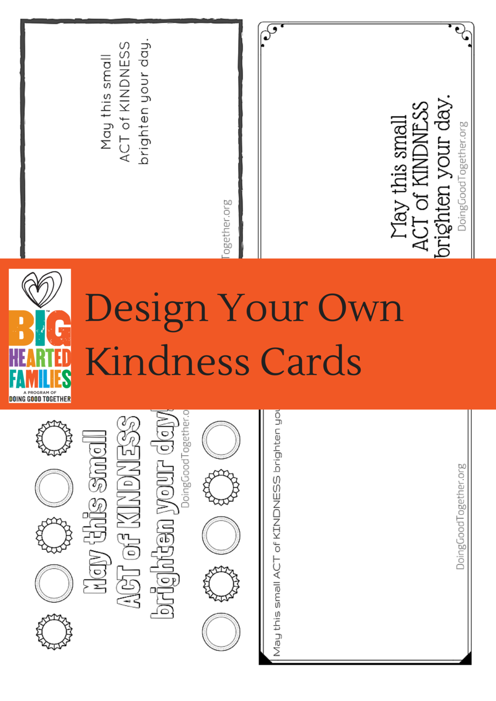 Design your own artistic cards to leave behind after a random act of kindness.