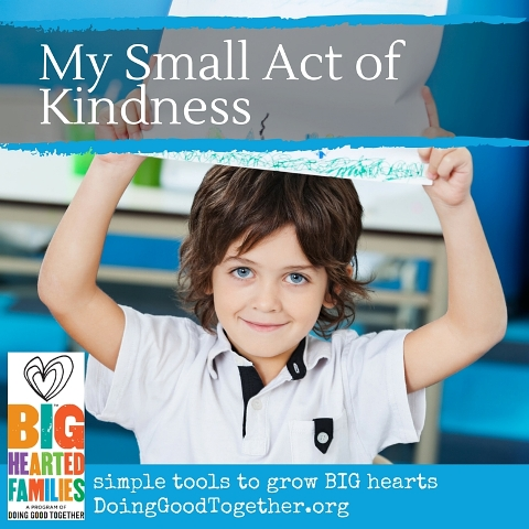 "Invite kids to color ""my small act of kindness"" each day for a month and help them see the impact of their kindness!"