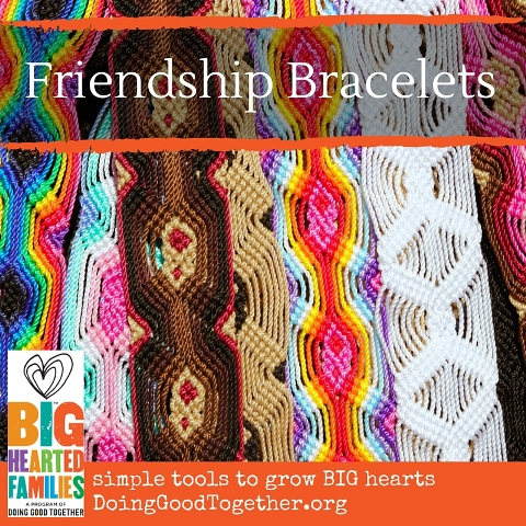 Make friendship bracelets and share them as an act of kindness!