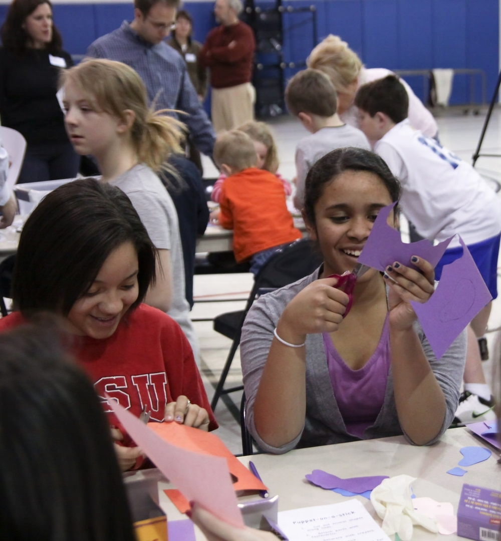 """Connect nonprofits with groups of all ages who want to volunteer in one place for a """"fair"""" of fun! Doing Good Together™ Family Service Fairs are great events for neighborhoods, schools, faith communities, and businesses."""