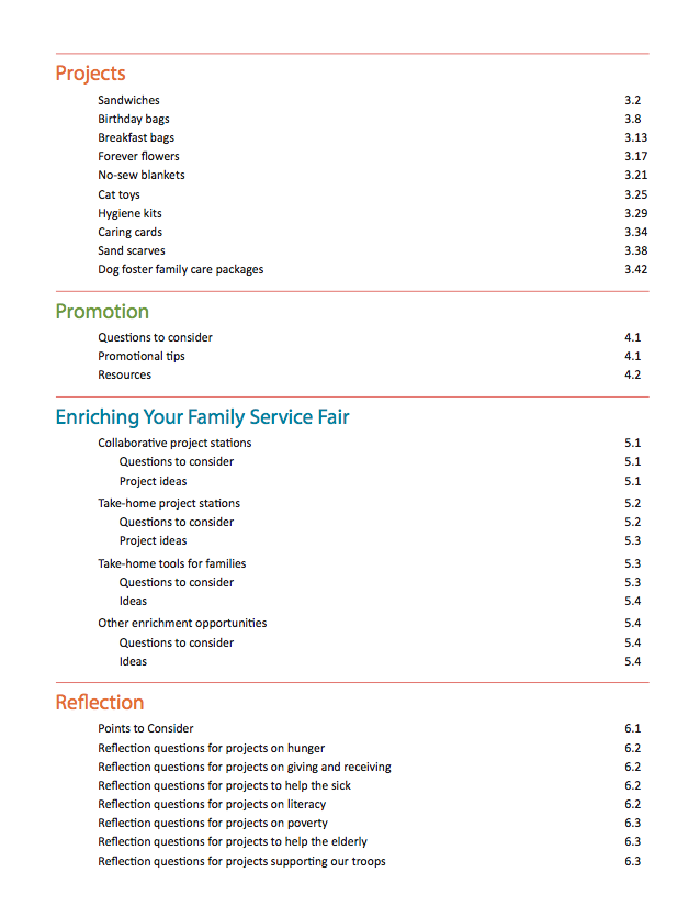 Family Service Fairs