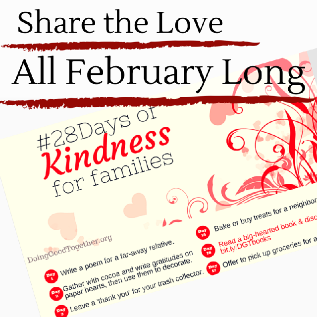 Take our 28 Days of Kindness challenge and share generosity and love this February