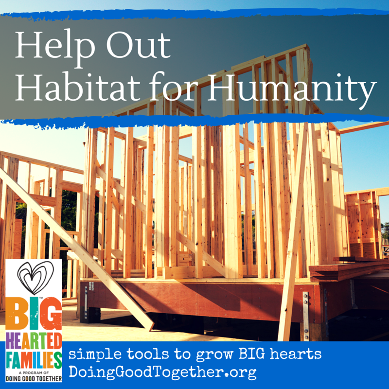 Insructions, reflection questions, and book suggestions for families and groups interested in Supporting Habitat for Humanity