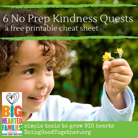 6 no prep kindness quests