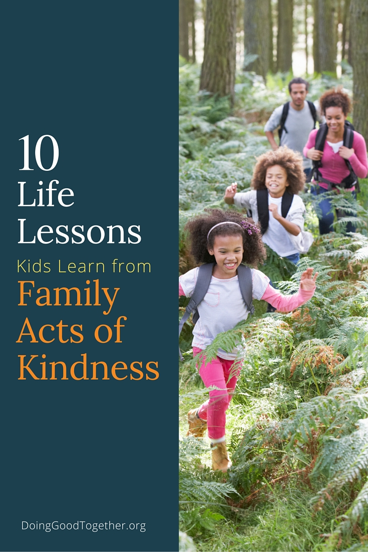 Helping others is reward enough, but here are ten more reasons to volunteer and share acts of kindness as a family.