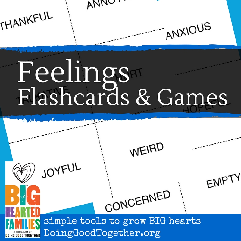Feelings Flashcards for teaching emotional awareness and empathy.