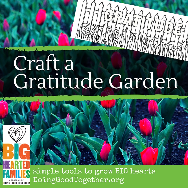 Create a gratitude garden to appreciate the joys in your life.