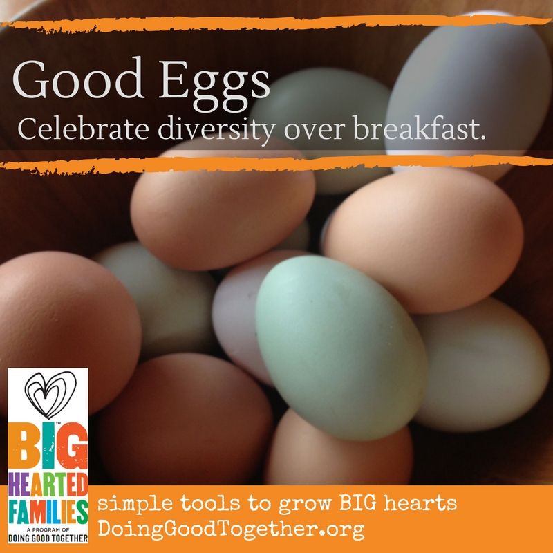 Help kids experience the deliciousness of diversity with this simple illustration and scrambled egg experiment.