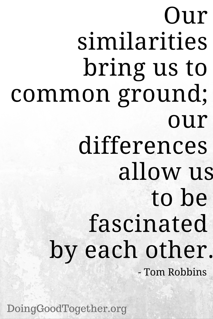 Be fascinated by one another.