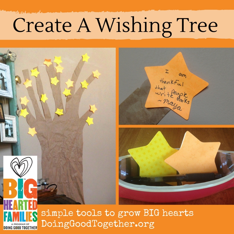 A thoughtful twist on the classic gratitude tree from DoingGoodTogether.org