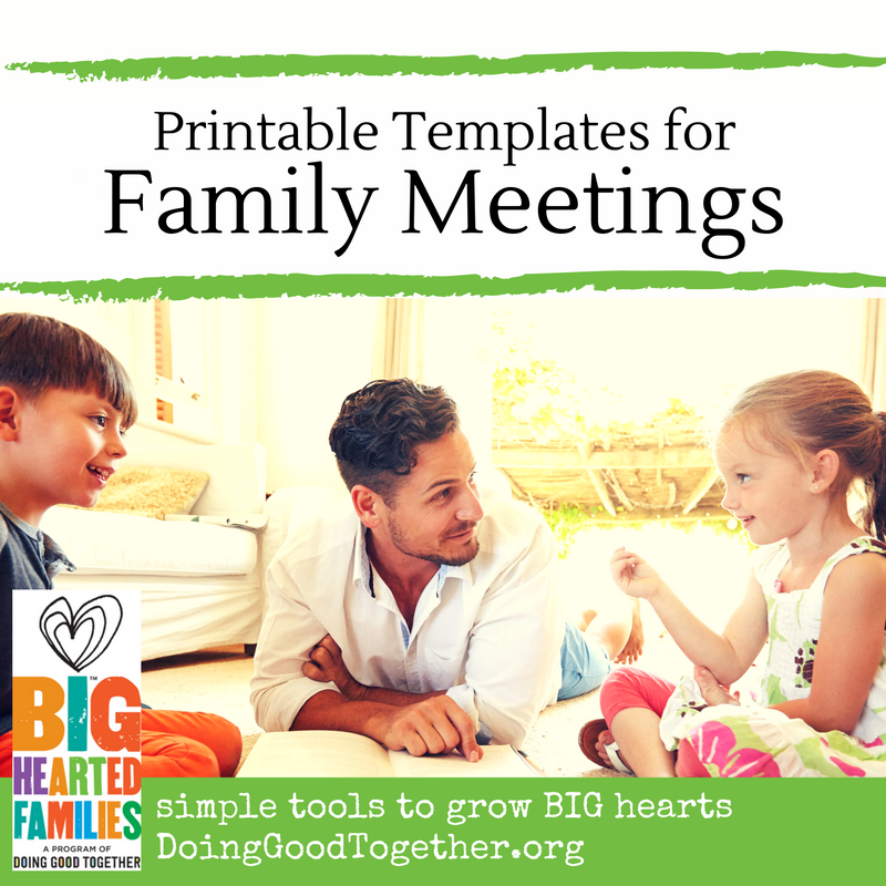 Host a family meeting to live your values and stay focused on your priorities.