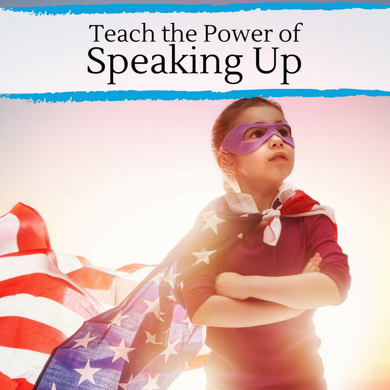 Teach the power of speaking up with unique project tips and conversation starters.