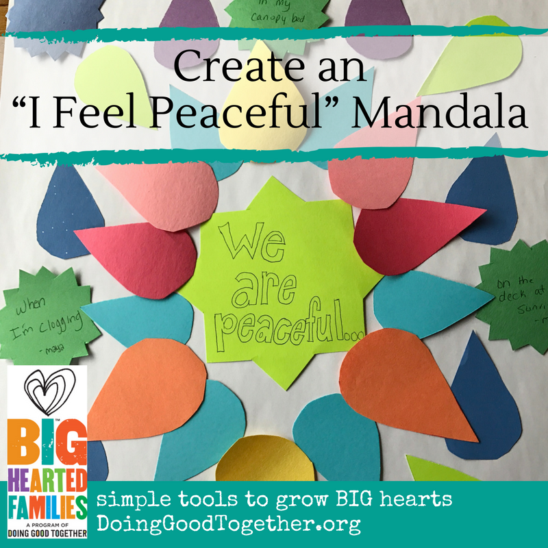"""I Feel Peaceful"" Mandala... a mindfulness activity designed to accompany Douglas Woods ""A Quiet Place"""