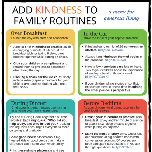 Free Printables For Immediate Acts Of Kindness Doing Good Together